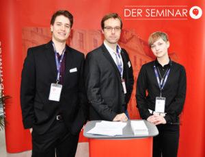 Das Gründerteam von DER SEMINAR (v.l.): Christian Allner, Andreas Weishaupt, Pia-Pascal Wichert (Foto: Peter Martini, druckfertig 300 dpi).